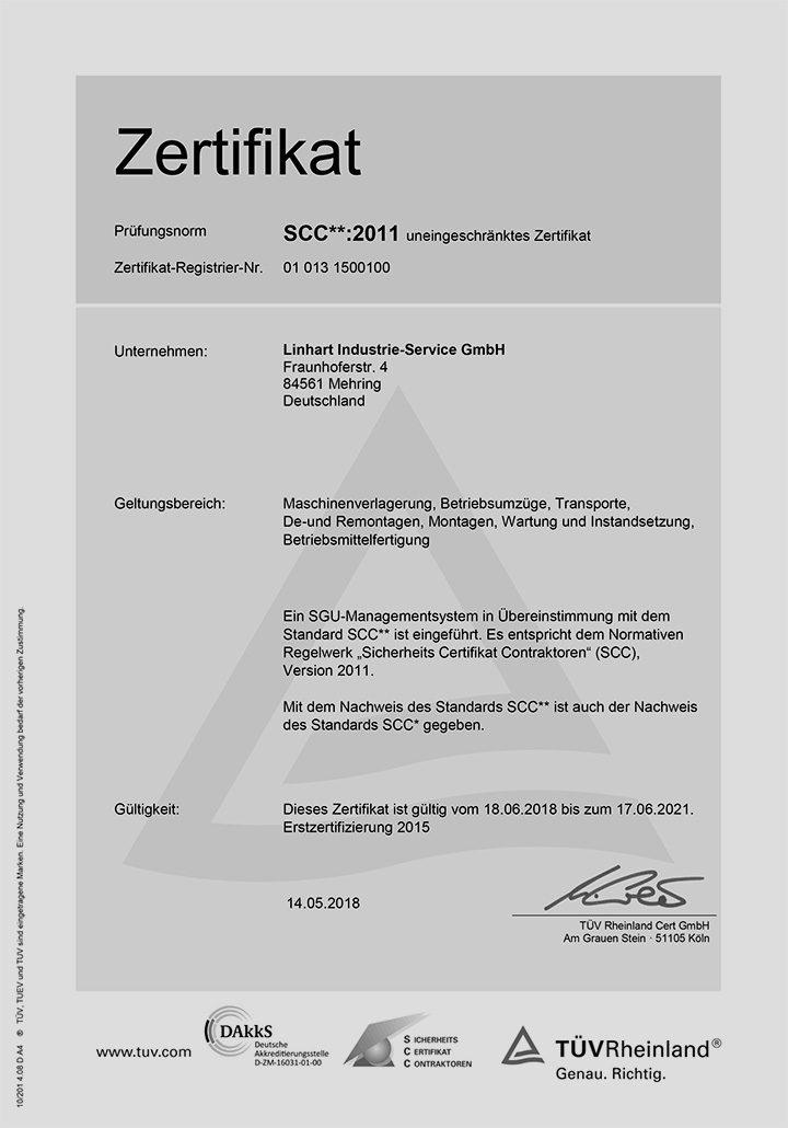Zertifikat-SCC